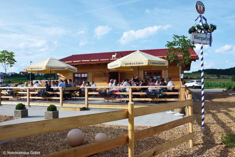 Xandy's Alm - Gastronomie Neubau mit Holzfassade