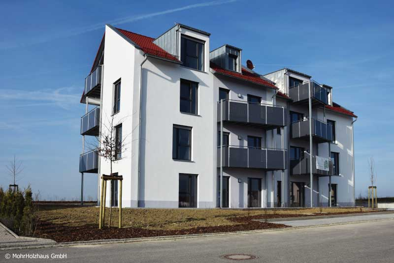 ROTHENBURG LIGNUM - Mehrgeschossiger Holzbau Mehrfamilienhaus mit 8 Wohnungen