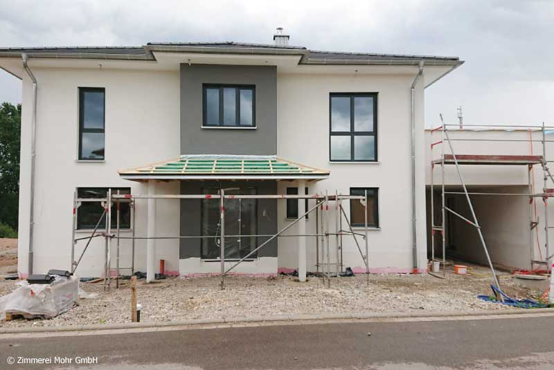 Holzhaus mit Putzfassade