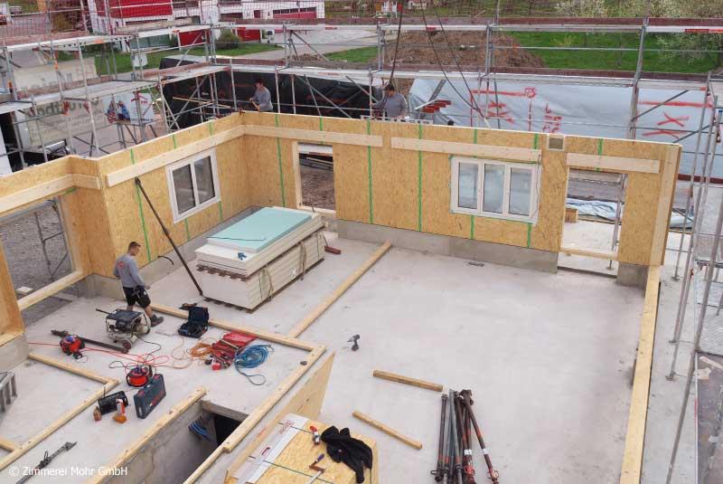 Hausmontage Einfamilienhaus Neubau