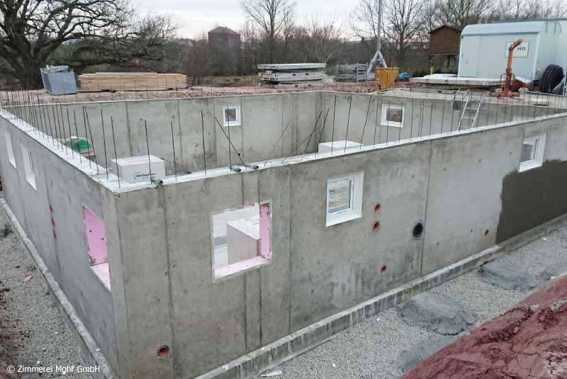Kellerbau für Einfamilienhaus