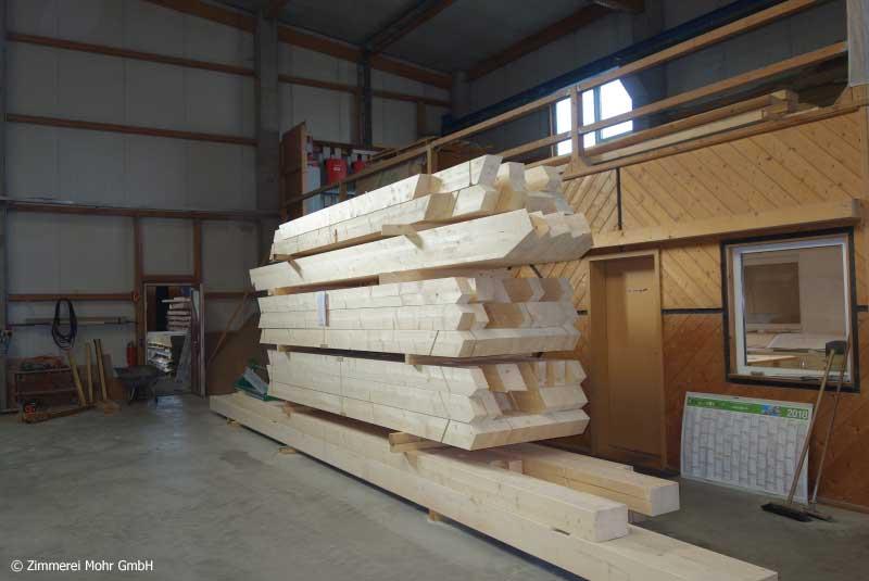 Abbund Holzbau Wandelemente