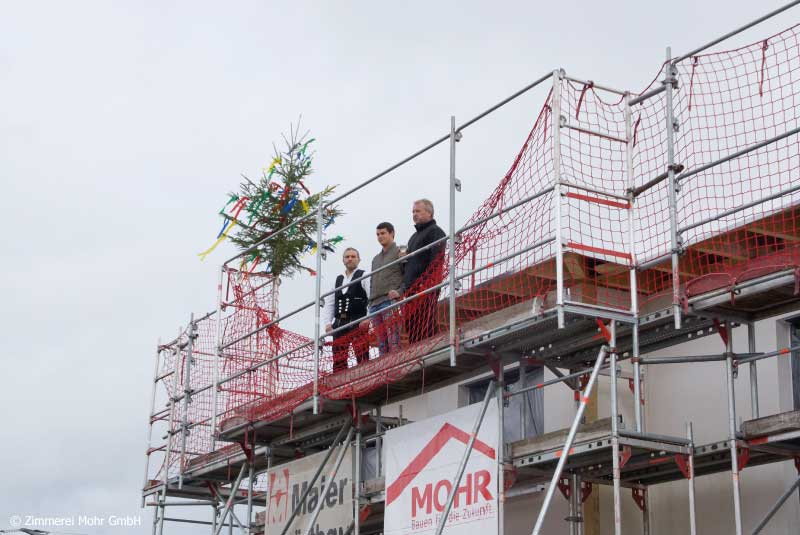 Richtfest Holzhaus Neubau