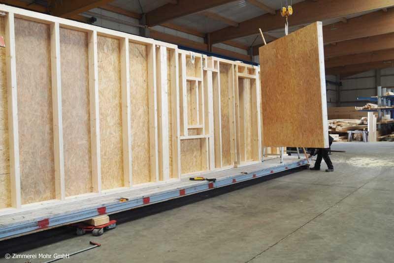 Holzbau Außenwandelemente