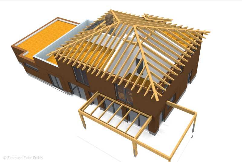 Werkplanung Einfamilienhaus Holzbau