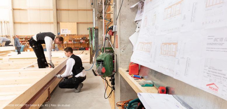Werkplanung Vorfertigung Holzbau Zimmerei Mohr Leutershausen