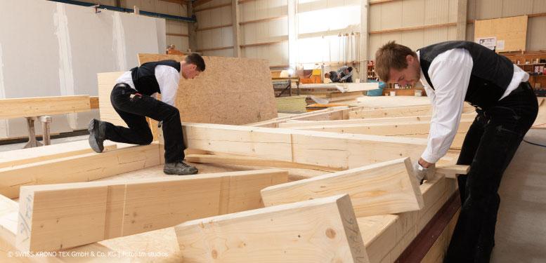 Vorfertigung Zimmerer Holzbau Außenwand