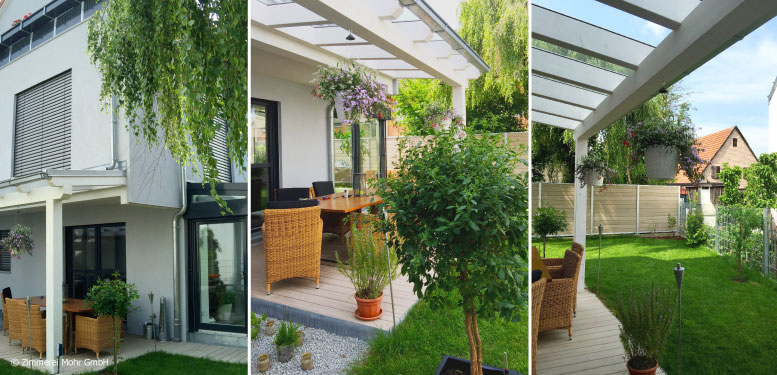 Homestory Reiheneckhaus TOWNHOUSE – Ruheoase Garten in der Großstadt mit überdachter Terrasse und Wintergarten